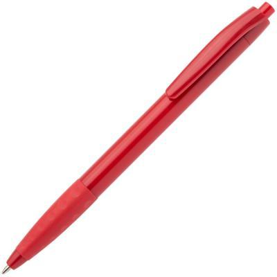 Авторучка шариковая, 1,0мм, красный непрозрачный корпус с резиновой вставкой, синие чернила
