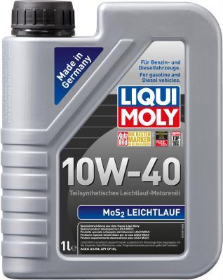 Полусинтетическое моторное масло LiquiMoly MoS2 Leichtlauf 10W40 1 л 1930 полусинтетическое моторное масло liquimoly optimal 10w40 1 л 3929