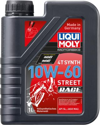 Cинтетическое моторное масло LiquiMoly Motorbike 4T Synth Street Race 10W60 1 л 1525