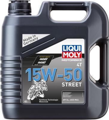 НС-синтетическое моторное масло LiquiMoly Motorbike 4T Street 15W50 4 л 1689