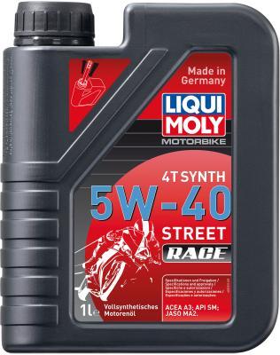 Cинтетическое моторное масло LiquiMoly Motorbike 4T Synth Street Race 5W40 1 л 2592