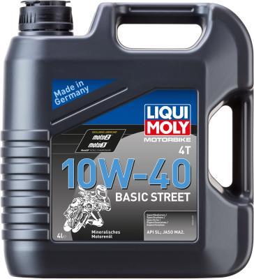 Минеральное моторное масло LiquiMoly Motorbike 4T Basic Street 10W40 4 л 3046