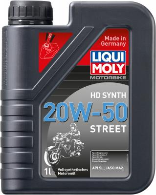 Cинтетическое моторное масло LiquiMoly Motorbike HD Synth Street 20W50 1 л 3816 ytx20l bs battery for harley davidson fxst flst series softail 1450cc 2006 xq