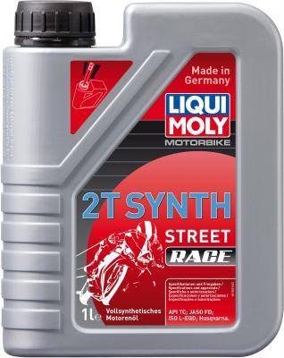 Cинтетическое моторное масло LiquiMoly Motorbike 2T Synth Street Race 1 л 3980