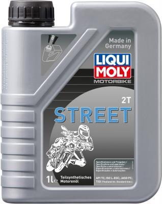 Полусинтетическое моторное масло LiquiMoly Motorbike 2T Street 1 л 3981 моторное масло mannol 2 takt universal api tc минеральное 1 л