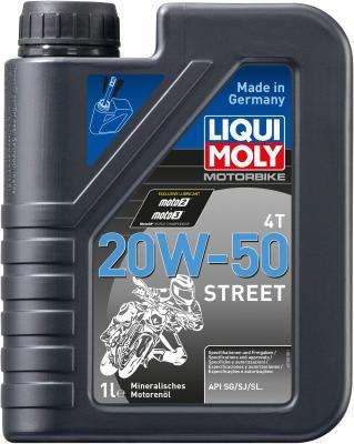 Минеральное моторное масло LiquiMoly Motorbike 4T Street 20W50 1 л 7632