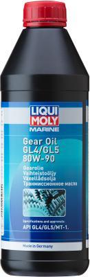 Минеральное трансмиссионное масло LiquiMoly Marine Gear Oil 80W90 1 л 25069 масло трансмиссионное минеральное sae 80w 90 api gl 5 1 л dde m sae80w 90