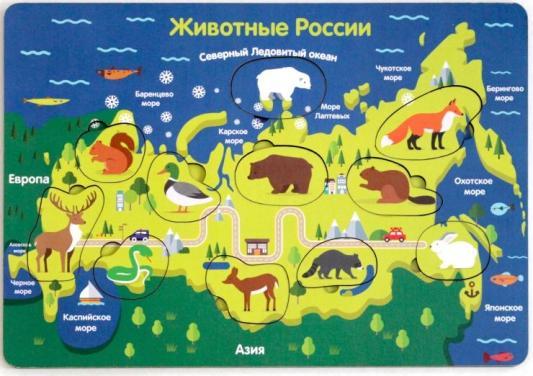 Развивающая игрушка Мастер игрушек Животные России фабрика мастер игрушек развивающая игра домино тропические животные