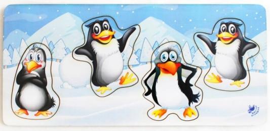 Купить Развивающая игрушка: Рамка-вкладка Пингвины , Мастер игрушек, Развивающие центры для малышей