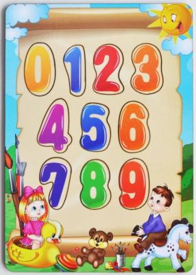 Развивающая игрушка: рамка-вкладка «Учим цифры» мастер игрушек сладкие цифры