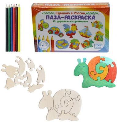 Купить Развивающая игрушка: Пазл-раскраска Улитка , Мастер игрушек, Развивающие центры для малышей