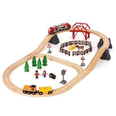 Железная дорога Brio Железная дорога - Сельская местность с 3-х лет 7312350339161 железная дорога игры настольные омзэт железная дорога с 3 х лет 153 топаз