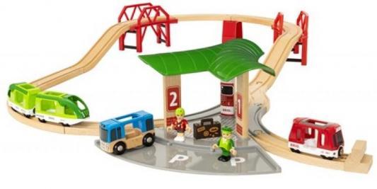 Набор Brio Автовокзал с 2 мостами и ж/д с 3-х лет машинки brio погрузчик с подъемником и фигуркой brio