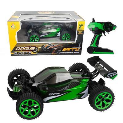 Машинка на радиоуправлении 1toy Машина  / пластик зелёный