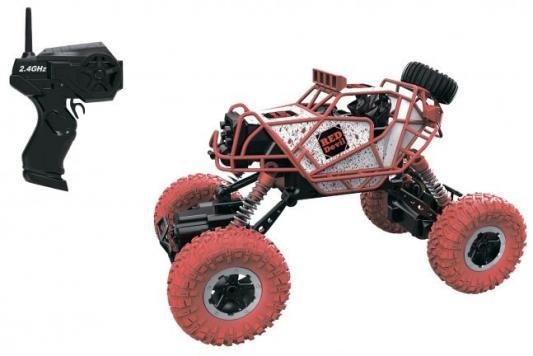 1toy Драйв, раллийная машина бигвил на р/у, 2,4GHz, 4WD, масштаб 1:43, скорость до 14км/ч, курковый пульт, амортизаторы, с АКБ, красно-белый 1toy раллийная машина на р у