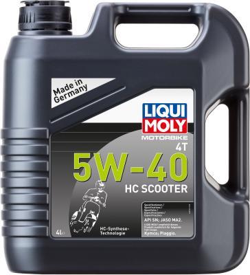 НС-синтетическое моторное масло LiquiMoly Motorbike 4T HC Scooter 5W40 4 л 20830