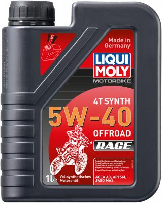 Cинтетическое моторное масло LiquiMoly Motorbike 4T Synth Offroad Race 5W40 1 л 3018 ytx20l bs battery for harley davidson fxst flst series softail 1450cc 2006 xq