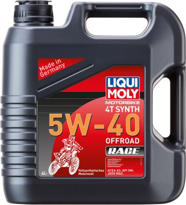 Cинтетическое моторное масло LiquiMoly Motorbike 4T Synth Offroad Race 5W40 4 л 3019