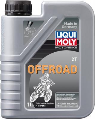 Полусинтетическое моторное масло LiquiMoly Motorbike 2T Offroad 1 л 3065 моторное масло mannol 2 takt universal api tc минеральное 1 л