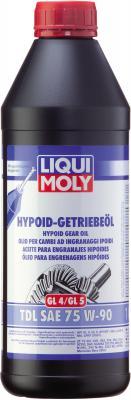 Полусинтетическое трансмиссионное масло LiquiMoly Hypoid-Getriebeoil TDL 75W90 1 л 3945 масло трансмиссионное liqui moly hypoid getriebeoil tdl полусинтетическое 75w 90 gl 4 gl 5 1 л