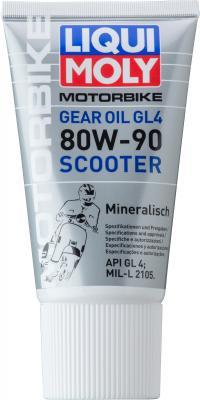 Минеральное трансмиссионное масло LiquiMoly Gear Oil Scooter 80W90 0.15 л 1680 масло трансмиссионное минеральное sae 80w 90 api gl 5 1 л dde m sae80w 90