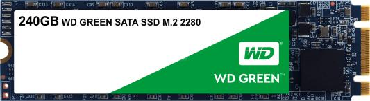 Твердотельный накопитель SSD M.2 240 Gb Western Digital Green Read 540Mb/s Write 465Mb/s 3D NAND TLC WDS240G2G0B