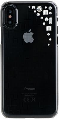 Накладка Bling My Thing Edge. Crystal для iPhone X прозрачный с кристаллами Swarovski butterfly bling diamond case