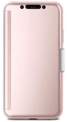 Чехол-книжка Moshi StealthCover для iPhone X розовый 99MO102301 цена и фото
