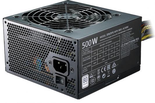 БП ATX 500 Вт Cooler Master MasterWatt Lite 500 (MPX-5001-ACABW-ES) блок питания atx 700 вт cooler master masterwatt lite mpx 7001 acabw eu