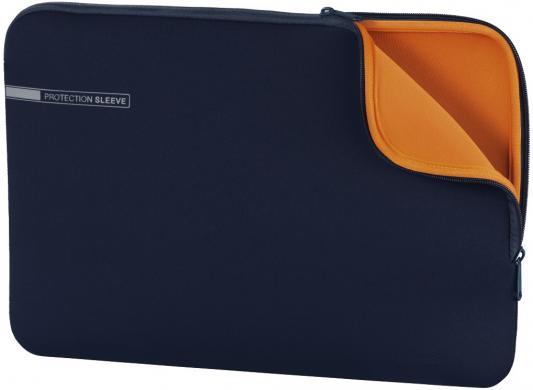 "Чехол для ноутбука 13.3"" HAMA 00101553 неопрен синий оранжевый цена 2017"