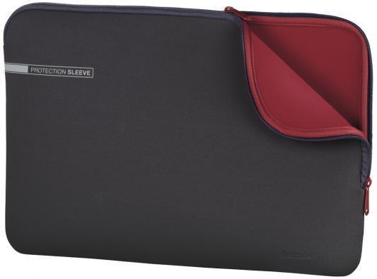 Чехол для ноутбука 15.6 HAMA 00101550 неопрен серый красный чехол для ноутбука 15 6 hama slide ткань черный 00101733