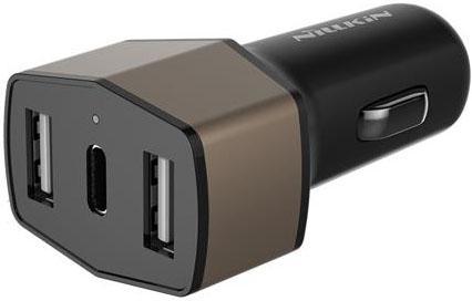Автомобильное зарядное устройство Nillkin 6902048139831 черный зарядное устройство nillkin fast wireless charging stand fs wcp fc1
