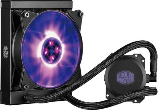 Водяное охлаждение Cooler Master MasterLiquid ML120L RGB MLW-D12M-A20PC-R1 Socket 775/1150/1151/1155/1156/2066/1356/1366/2011/2011-3/AM2/AM2+/AM3/AM3+/FM1/AM4/FM2/FM2+ alseye cpu cooler heatsink with 90mm led cpu fan tdp 95w 0 23a 2200rpm cooler for lga 1150 1151 1155 am2 am2 am3 am3 am4