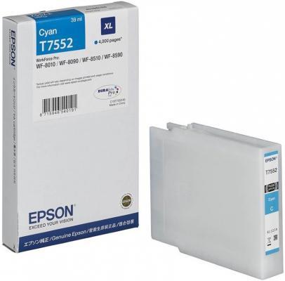 Картридж Epson C13T755240 для Epson WF-8090/8590 голубой принтер струйный epson l312