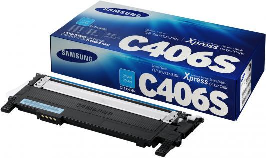 Картридж Samsung ST986A CLT-C406S для CLP-360 365 365W голубой тонер картридж черный samsung clp 360 365 365w черный 1500 стр clt k406s see