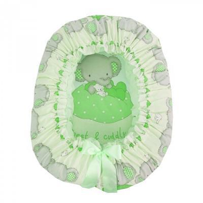 Подушка-валик-гнездо Золотой Гусь Слоник Боня (зеленый) золотой гусь слоник боня бежевый золотой гусь
