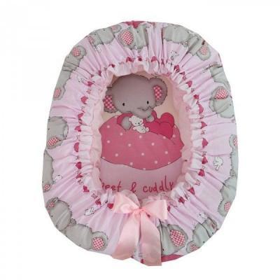 Подушка-валик-гнездо Золотой Гусь Слоник Боня (розовый) золотой гусь слоник боня бежевый