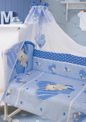 Постельный сет 7 предметов Золотой Гусь Мишутка (голубой) постельный сет 7 предметов золотой гусь мишутка розовый