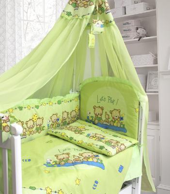 Сменное постельное белье 3 предмета Bombus Давай поиграем (зеленый) комплект в кроватку bombus давай поиграем 7пр розовый