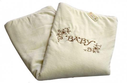 Купить Плед Bombus Изабэль (бежевый), 90 х 110 см, велюр, Одеяла и пледы