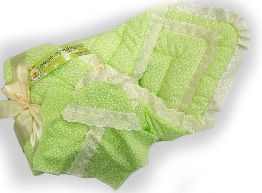 Одеяло на выписку Bombus (4 предмета/зеленый)