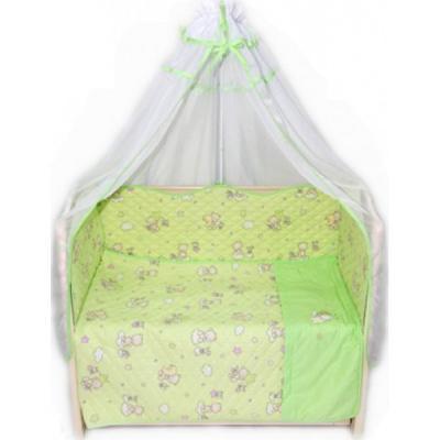 Постельный сет 6 предметов Bombus Универсальный (зеленый) карман на кроватку bombus светик розовый