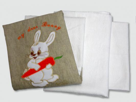 Постельное белье 3 предмета Labeillebaby Мой милый зайка (белый) постельное белье forest bow wow 3 предмета