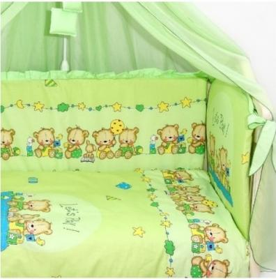 Постельный сет 7 предметов Labeillebaby Давай поиграем (зеленый) постельный сет 7 предметов тайна снов сыроежкины сны салатовый