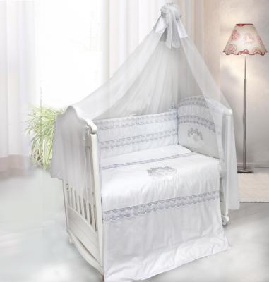 Постельный сет 7 предметов Labeillebaby Инфанта (белый) комплект в кроватку labeillebaby светик 7 предметов белый