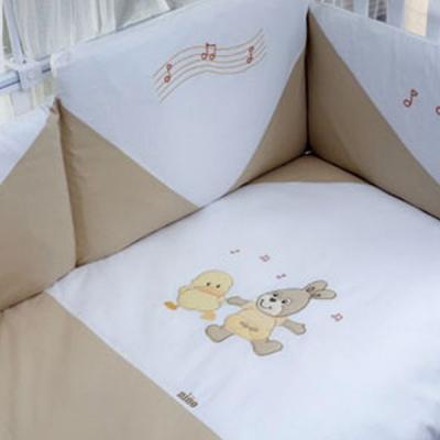 Постельный сет 6 предметов Nino Balle (ecru) комплекты в кроватку nino el amor 6bb предметов