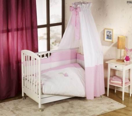 Постельный сет 6 предметов Nino Elefante (pink) комплекты в кроватку nino el amor 6bb предметов