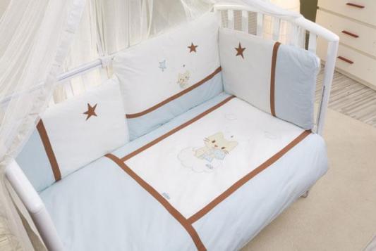 Постельный сет 6 предметов Nino Gatito (blue) комплекты в кроватку nino el amor 6bb предметов