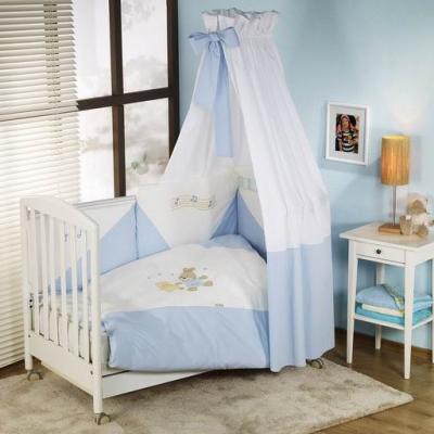 Постельный сет 6 предметов Nino Balle (blue) комплекты в кроватку nino el amor 6bb предметов