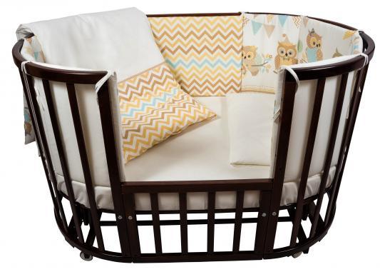 Постельный сет 6 предметов в кроватку Nuovita Gufi (beige) комплекты в кроватку esspero ribbon royal 6 предметов